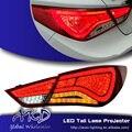 One-Stop Shopping Styling para Hyundai Sonata8 LED Luzes Traseiras Sonata Sonata Novo LED Da Luz Da Cauda Da Lâmpada Traseira DRL + freio + Parque + Sinal