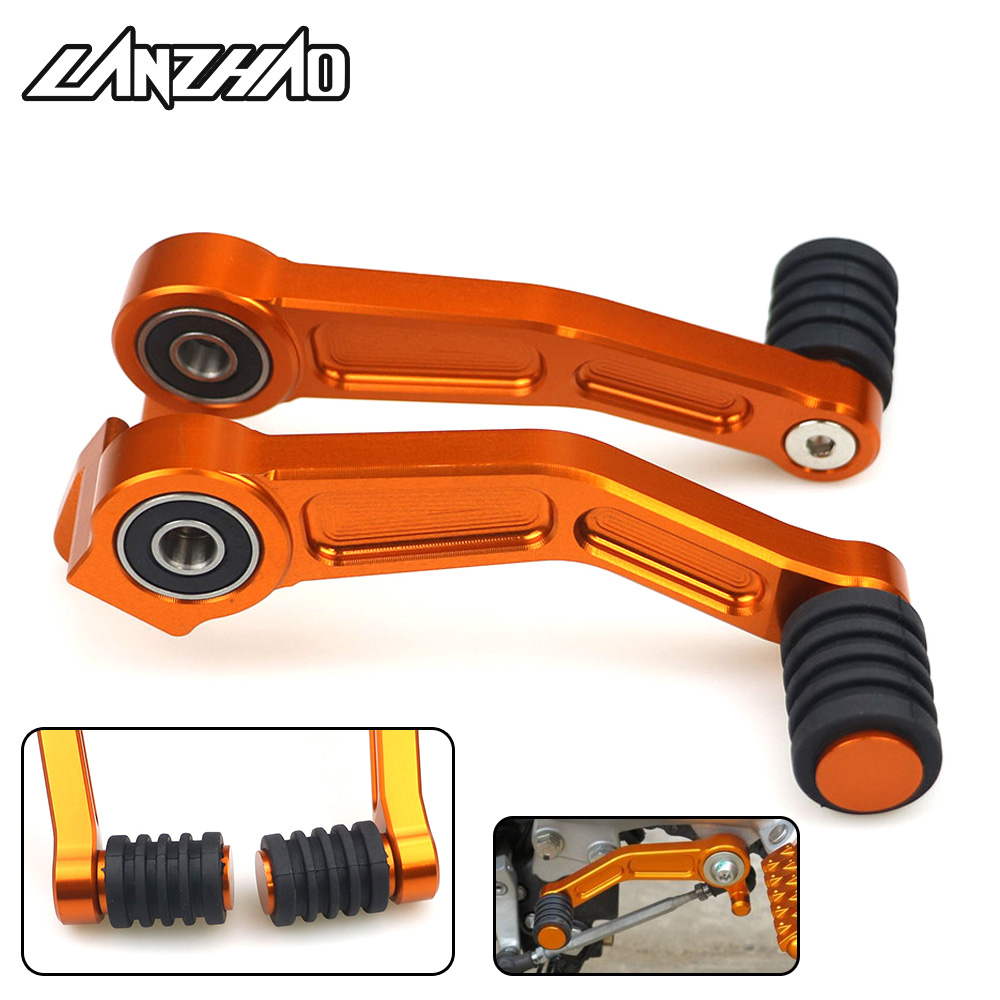 Orange Motorcycle Foot Brake Lever & Gear Shifting Lever Pair CNC Aluminum Pedal for KTM 390 Duke 2013 2014 2015 2016 125 200 image