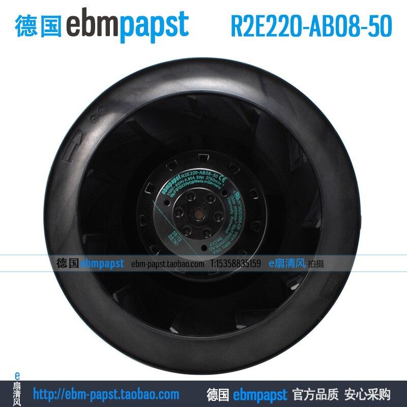 Original new ebm papst R2E220-AB08-50 AC 115V 0.80A 93W 220x220mm Server Round fan new original ebm papst iq3608 01040a02 iq3608 01040 a02 ac 220v 240v 0 07a 7w 4w 172x172mm motor fan