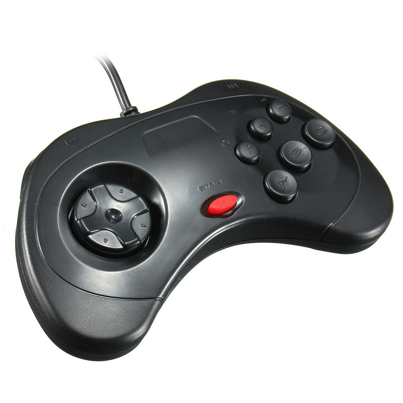 Brand New Wired Retro USB Gamepad Gaming Controller JoyPad Joystick For Sega for Saturn System Style For PC for Mac Black