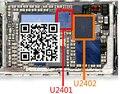 10 par/lote (20 pcs) original novo branco + preto touch screen digitador ic chip para iphone 6 6 + 6 plus u2401 + u2402