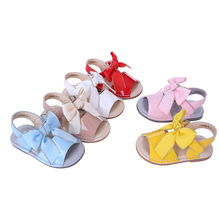 Pettigirl New Classic Style Girls Sandal Six Colors Toddler Shoes (1 8Y) Chaussure Bowtie Child Sandals US Size A KSG005 02