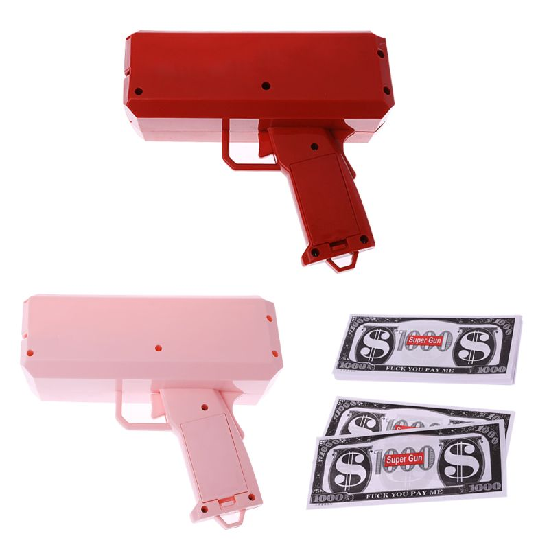 Nice Make It Rain Money Launch Machine 100pcs Cash Launcher Party Game Tpy Cash 2 Colors Machine For Fast Shipping