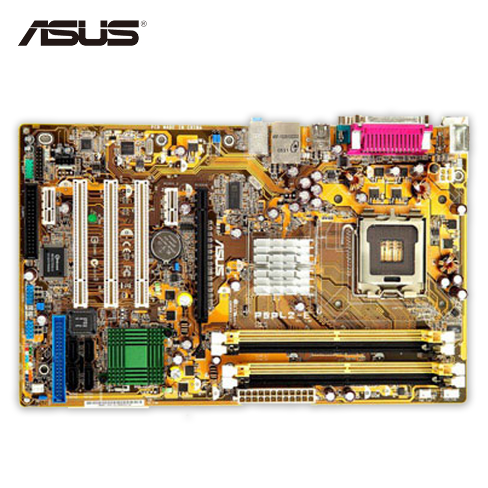 Asus P5PL2-E Original Used Desktop Motherboard 945 Socket LGA 775 DDR2 2G SATA2 USB2.0 ATX used original for lenovo 945gc m2 lga 775 ddr2 for intel 945 motherboard