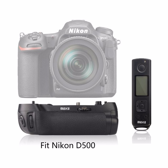 Meike MK-D500 Pro Built-in 2.4GHZ FSK With Remote Control Shooting for Nikon D500 Camera Replacement of MB-D17 meike mk d500 vertical battery grip shooting for nikon d500 camera replacement of mb d17
