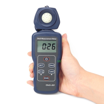 LCD Portable Formaldehyde CH2O Gas Detector Humidity Measurement Tester Precision 0~4.00ppm 0-5.00mg/m3 Formaldehyde Monitor