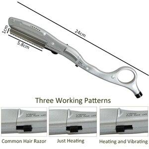 Image 5 - ホット!電気毛かみそり超音波ホット振動加熱かみそり散髪人間の髪美容ヘアエクステンションツール