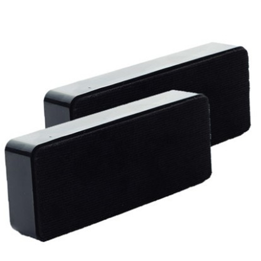 2pcs/set Black Magnetic Attaching Soft Eraser, Dry Whiteboard Marker Wipe Cleaner