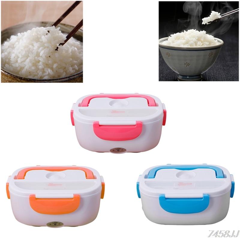 3 cor Lancheira Aquecida Elétrica 220 V Portátil Food-grade Conjunto Recipiente de Alimento Bento Comida Quente Para as crianças Com Caixa escolar Z03