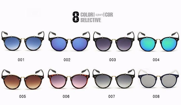 Fashion Vintage Round Sunglasses Women Men Brand Designer Retro Mirror Sunglass Ladies Female Male Sun Glasses For Women Glasses (7)