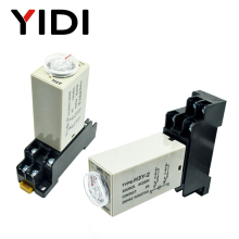 H3Y-2 Timer Relay DC12V AC 220V 0-30 Sec minute 0-60s 0-60min Delay 220VAC Time with Base Socket