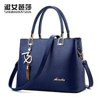 Women Leather Handbags 2017 New High Quality Sweet Fashion Tassel Handbags 6 Kinds Of Color Shoulder