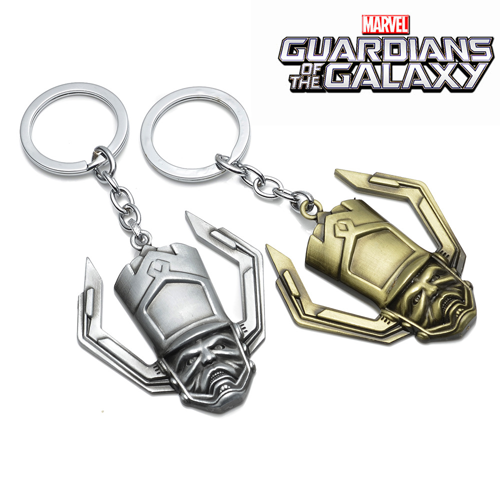 QY New Guardians Of The Galaxy Mask Keychains For Male Metal Keyrings Key Holders Chaveiro Porte Clef For Lover Best Friends