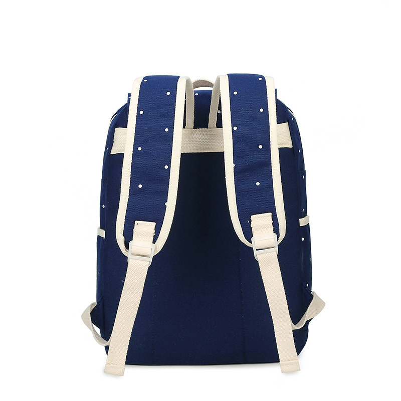 db40d2210c Teenager Girl And Boys Rucksack Shoulder Bag Women Canvas 4Pcs set School  Backpacks College Schoolbag Fashion Plecaka Mochila-in Backpacks from  Luggage ...