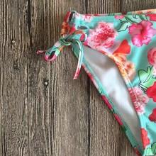 Waterproof Flower Two Piece Swimsuit