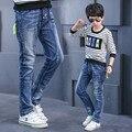 2017 Новая мода мальчиков одежда для детей мальчики джинсы детские брюки джинсы осень джинсы для детей подростков мальчик брюки одежда