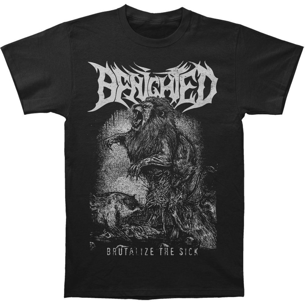 Benighted MenS Brutalize The Sick T Shirt Black