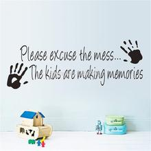Making Memories vinyl wall sticker home decor creative quote wall decals 8393 kids room removable cartoon wall Art