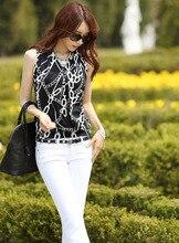Sexy Women Halter Sleeveless T-Shirt Female Summer Chiffon Shirts Camisole Fashion Stitching Vest Tops Free Shipping S1461