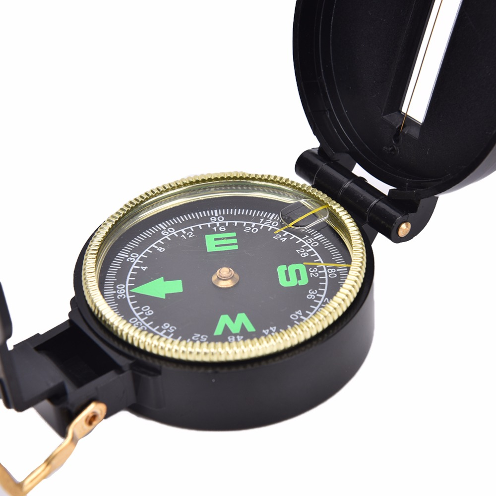 Metal Lensatic Compass Military Camping Hiking Army Style Survival MarchingRDUK