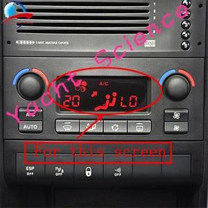 Image 3 - Auto ACC Lcd Modulo del Pannello Monitor di Visualizzazione di Riparazione del Pixel sfondo Rosso Aria Condizionata Informazioni Dello Schermo Per Peugeot 207