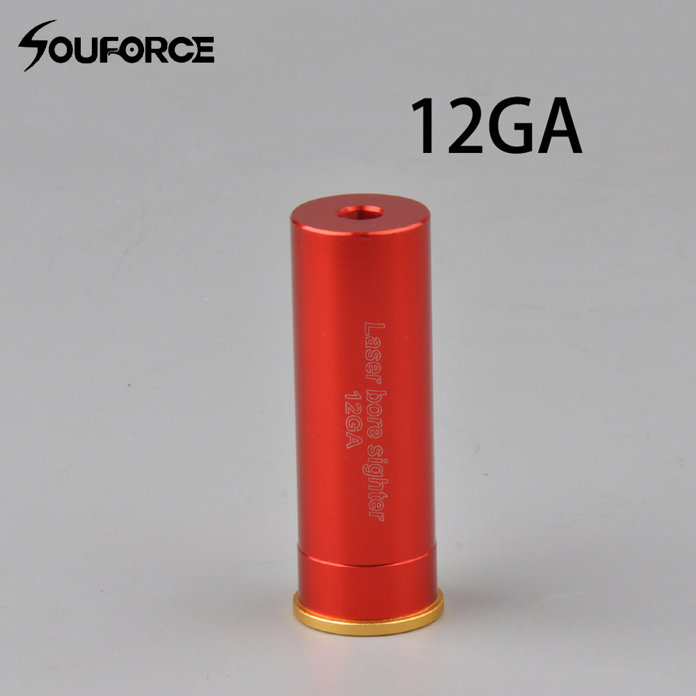 CAL: .12 GAUGE Cartridge Red Laser Bore Sighter with 20mm Diameter of Hunting Accessories