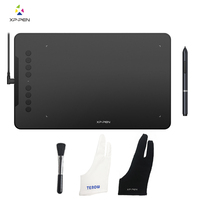 XP Pen Deco 01 Graphics Drawing Tablet 10*6.25 inch digital tablet Painting Board with 8192 levels Battery free Stylus 2* Glove