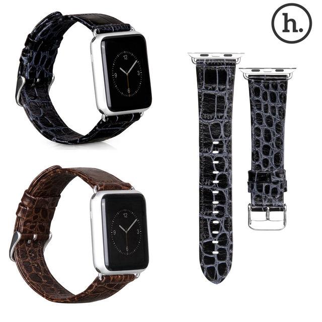 Hoco original de edición limitada de cocodrilo correa de piel genuina para apple reloj Serie 2 Venda de Reloj para iWatch primero 42mm 38mm cinturón