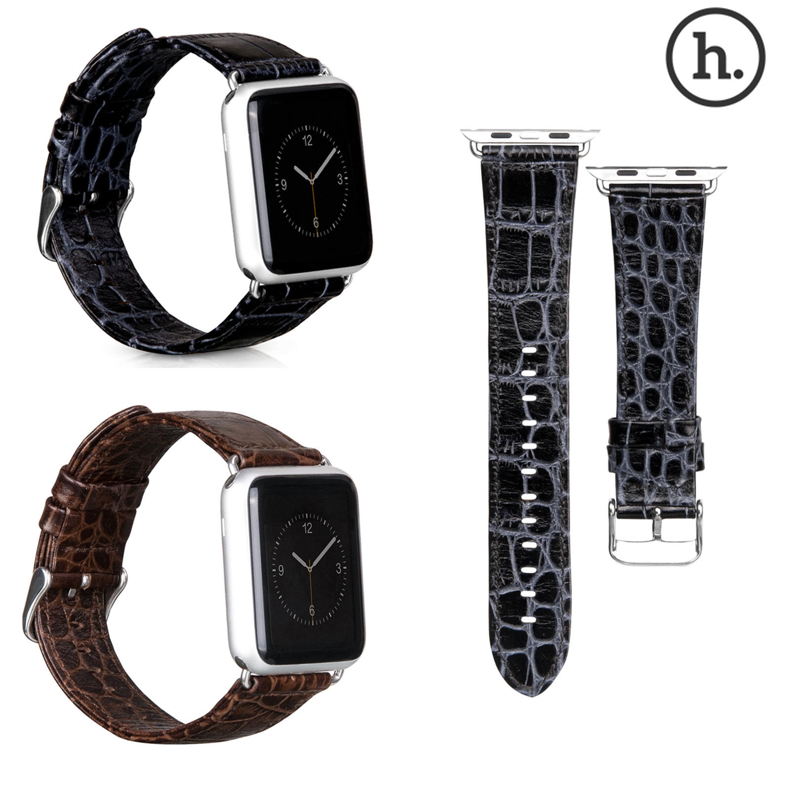 Original HOCO Limited Edition Crocodile Genuine Leather Strap for Apple Watch Series 2 Watch Band for iWatch 1st 42mm 38mm Belt kakapi crocodile skin genuine leather watchband with connector for apple watch 38mm series 2 series 1 pink