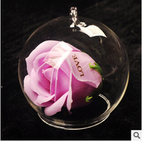 Aestheticism Creative Custom Lettering Rose Gift Micro Landscape Landscape Cover Glass Vase Characteristics