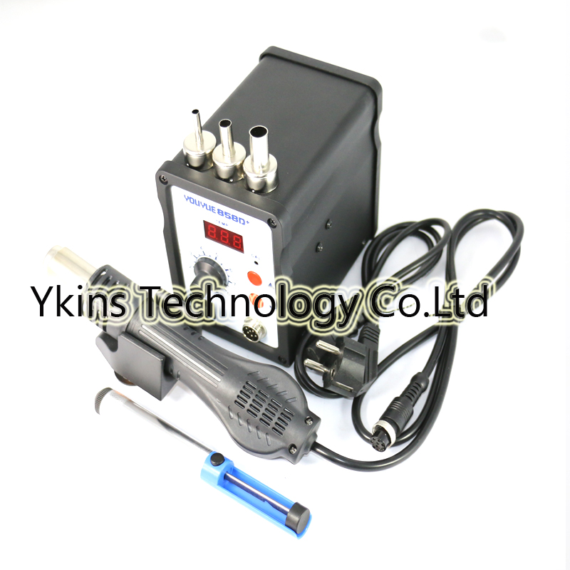 YOUYUE 858D+ AC 110V / 220V 700W SMD Rework Soldering Station Hot Air Gun Solder Iron With Free Gifts For Welding Repair 220v 858d digitalhot air gun soldering station welding solder iron for ic smd rework station with heating core