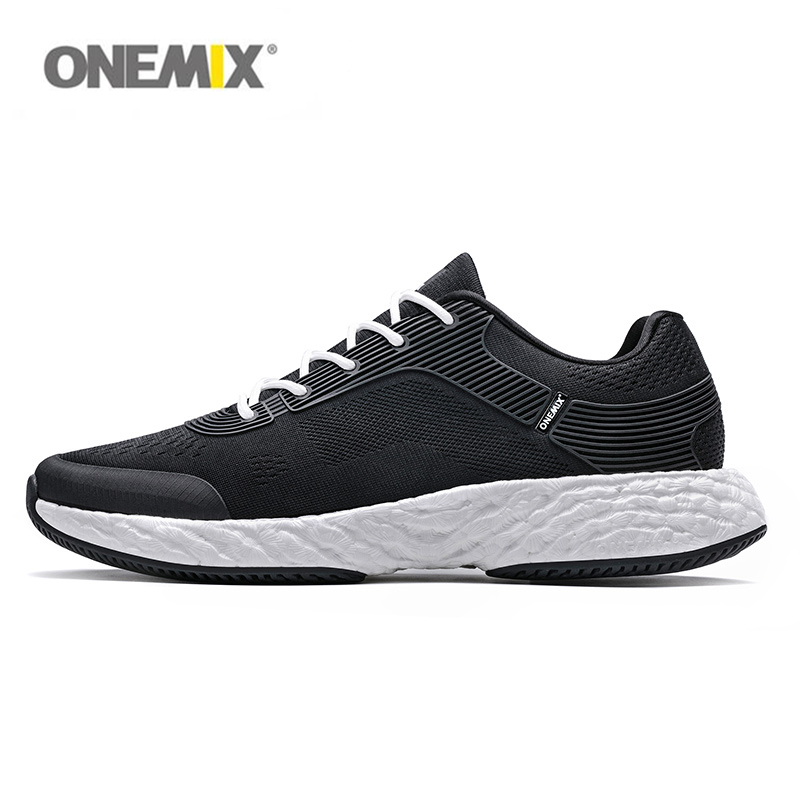 все цены на ONEMIX 2018 running shoes for man high-tech energy drop Jacquard vamp sport sneakers rebound light walking size 39 to 46