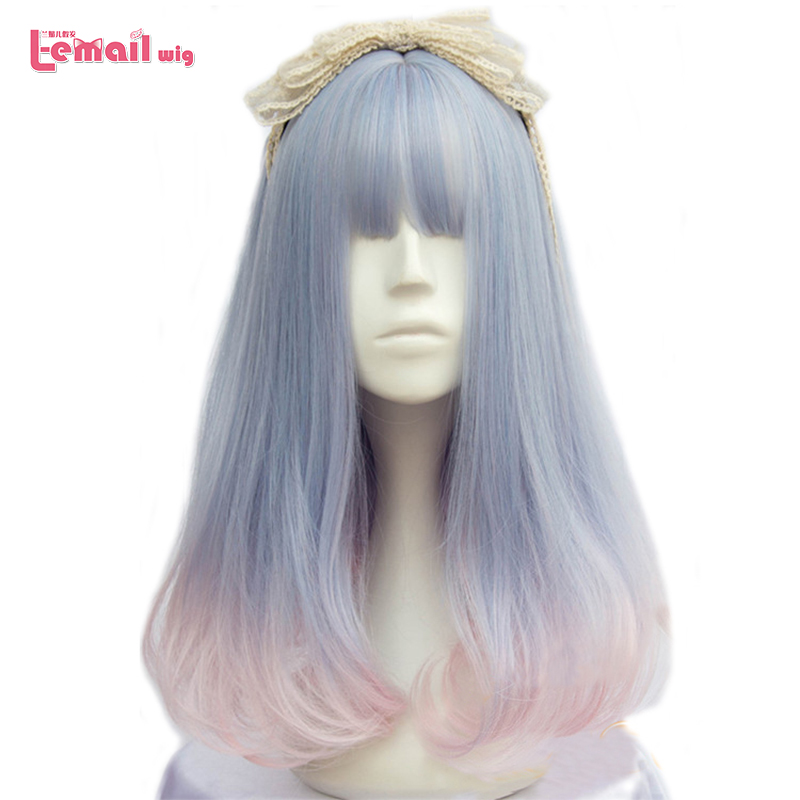 L-email Wig Brand New 40cm/15.74inch Women Wigs Mixed Color Heat Resistant Synthetic Hair Perucas Cosplay Wigs For Women