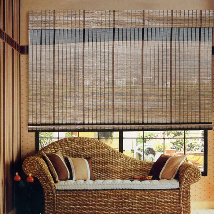 Popular de bambu persianas/cortinas de rolo de bambu/pronto feito cortina/cortina cortina de tecido janela cortina de bambu Haoyan
