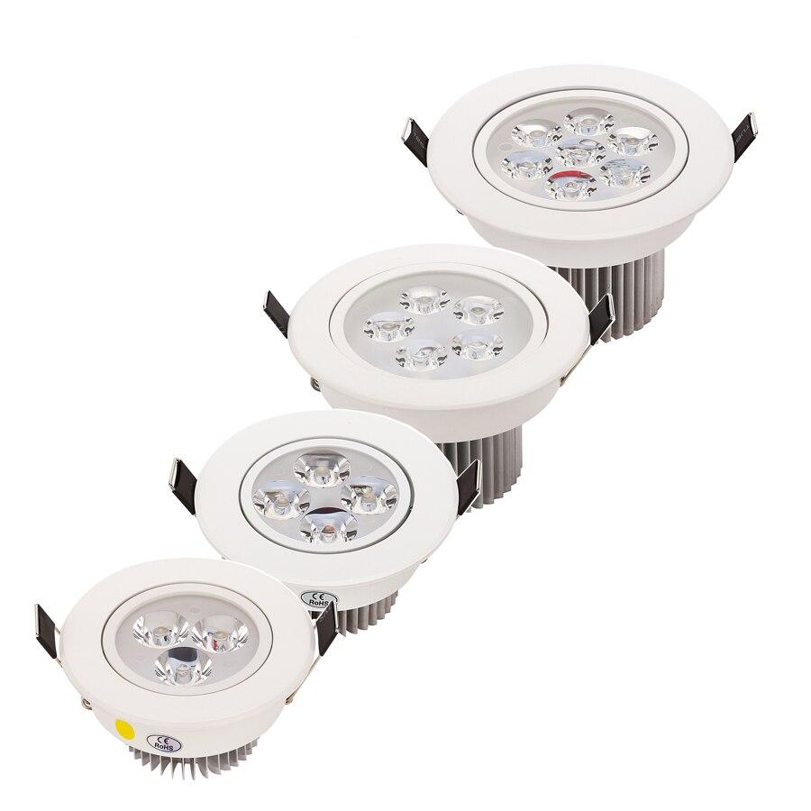 20 stks / partij Groothandel 9 W 12 W 15 W 21 W LED verzonken plafond - Binnenverlichting