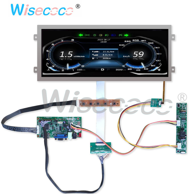 12.3 inch resolution 1920 * 720 HDMI display HSD123IPW1 A00 40 pin LVDS VGA for automotive instrumentation