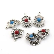 цены 5pcs/lot Antique Silver Metal Earring Connector For Jewelry Handmaking Diy Necklace Bracelet Needlework Accessories Wholesale