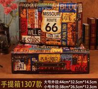 Gushifu деревянной коробке Европейский чемодан винтажный коробка Подарочная деревянная шкатулка большой ящик для хранения ZAKKA map коричневые к