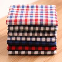 1 Meter Flannel Sanding Cotton Plaid Fabric For Spring Autumn Skirts Clothes Bedding Toys Red Blue