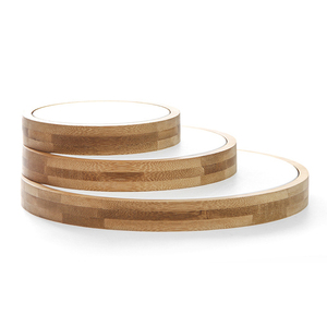Image 5 - 3 Stks/set Bamboe Sieraden Display Standhouder Showcase Organizer Armband Ketting Ring Oorbel Display Voor Etalage