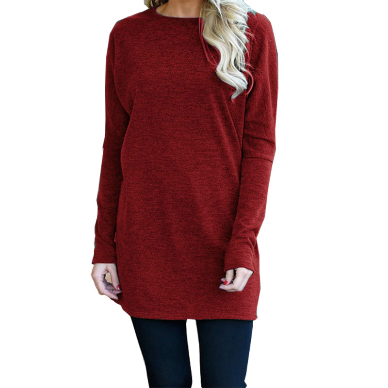 Knitted Women Dresses 2018 Autumn Winter O -Neck Long Sleeve Loose Mini Dress Solid Female Casual Plus Size Dress Gv300 embroidered casual loose knitted dress flower long sleeved dress o neck line plain dresses fall casual dresses