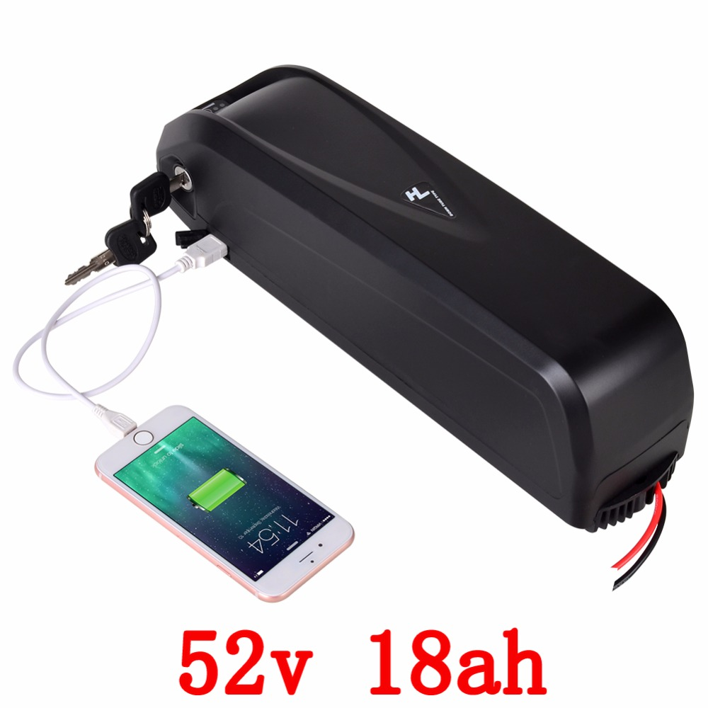 US EU no tax New Hailong E-Bike Battery 52V 18Ah for Samsung cell Lithium ion Battery with 30A BMS for 750W 1000W Bafang Motor pasion e bike 52v 12 8ah battery lg 18650 cell li ion electric bike battery hailong 52v cycling lithium battery with 2a charger