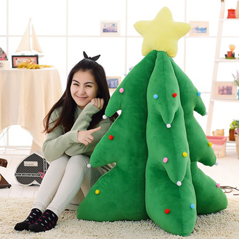 2016 New Cartoon Christmas Tree Stuffed Animal Toy LED Night Kids Soft Plush Dolls For Christmas Holiday Gifts image