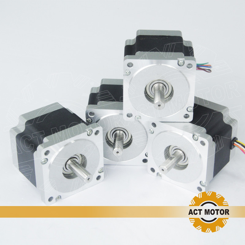 ACT Motor 4PCS Nema34 Stepper Motor 34HS9820B 890oz 98mm 2A 8-Lead Dual Shaft CE ISO ROHS CNC Router Plasma Laser Machine act motor 1pc nema34 stepper motor 34hs9820b 890oz in 98mm 2a 8 lead dual shaft ce iso rohs cnc router laser plasma engraving