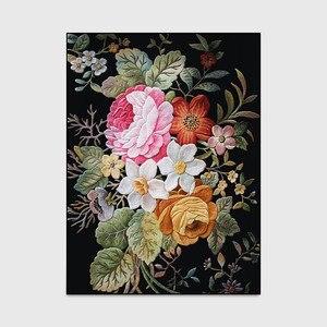 Image 4 - Classic retro American 3D Flower Printed door mat Bedroom living room carpet  bedside rug custom made non slip velvet floor mat