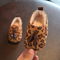 2017 Winter New Baby Toddler Shoes Leopard 0 1 Year Old Infant Baby Suede Moccasins Boots