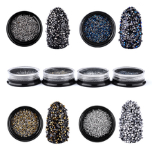 Glitter Micro Rhinestones Sharp End Shiny 3d Tiny Crystal Accessories For DIY Manicure Nail Art Decorations 1000pcs/pack