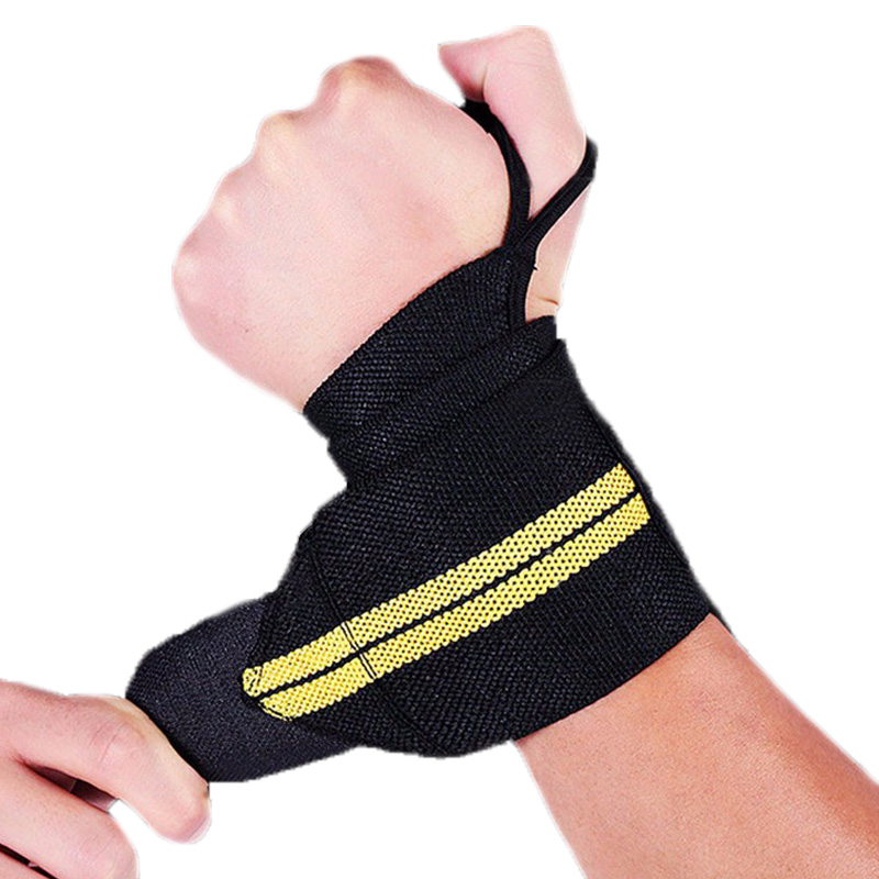 1 Pair Weightlifting Wrist Support Brace Straps Wrap Bodybuilding Gym Training Bandage Tennis Wristbands Sports Safety