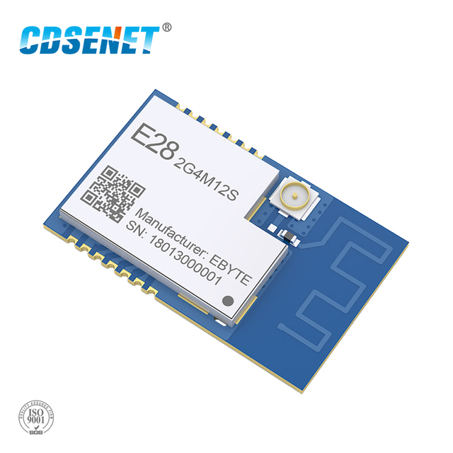 SX1280 לורה Bluetooth אלחוטי rf משדר 2.4 ghz מודול E28-2G4M12S SPI ארוך טווח 2.4 ghz BLE rf משדר 2.4 גרם מקלט