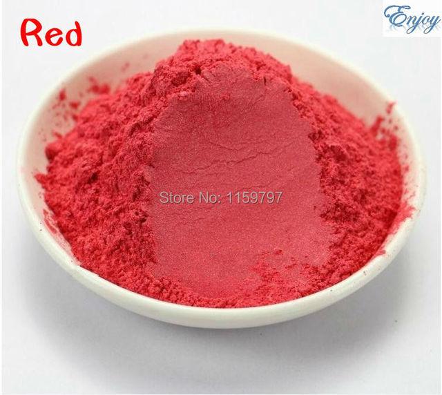 Pigmento Nacarado Para La Fabricación de Cosméticos de color ROJO, Tintura De Jabón Jabón Colorante Jabón En Polvo de Sombra de Ojos maquillaje Envío Gratis